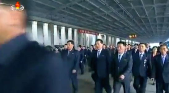Delegates and observes arrive to attend the 7th Party Congress (Photo: Korean Central Television).