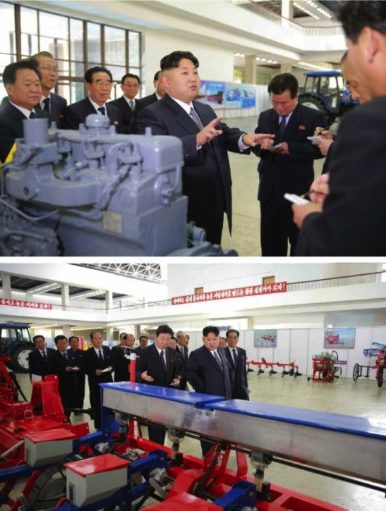 Kim Jong Un tours a machine and equipment exhibition (Photos: Rodong Sinmun-KCNA)