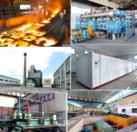 Photos disseminated by DPRK state media showing industrial upgrades at the Hwanghae Iron and Steel Complex (Photos: KCNA).