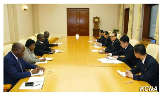 Meeting between the WPK and MLFP in Pyongyang on May 24, 2016 (Photo: KCNA).