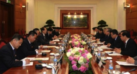 A WPK delegation meets with senior officials of the CPV Central Committee in Hanoi on June 6, 2016 (Photo: Rodong Sinmun).