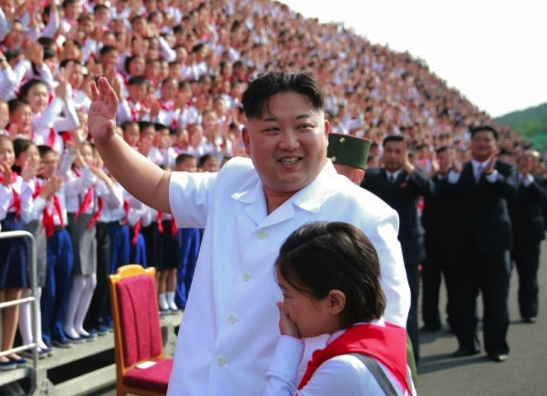 Kim Jong Un attends a commemorative photo-op in June 7, 2016 in Pyongyang with delegates to events marking the 70th anniversary of the Korean Children's Union (Photo: Rodong Sinmun).