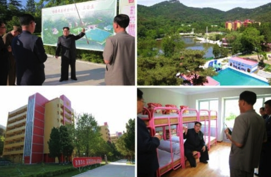 Kim Jong Un tours the renovation of Mangyo'ngdae Children's Camp in Pyongyang (Photos: Rodong Sinmun-KCNA).