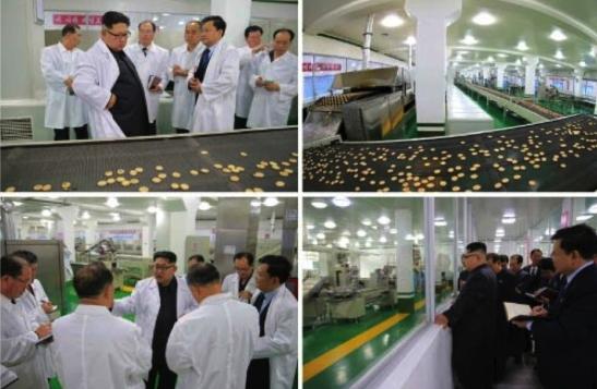 Kim Jong Un tours a production process at Pyongyang Cornstarch Factory (Photos: Rodong Sinmun/KCNA).