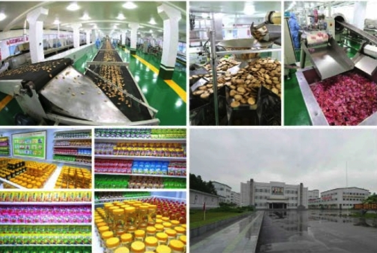View of products and the premises of Pyongyang Cornstarch Factory (Photos: Rodong Sinmun/KCNA).