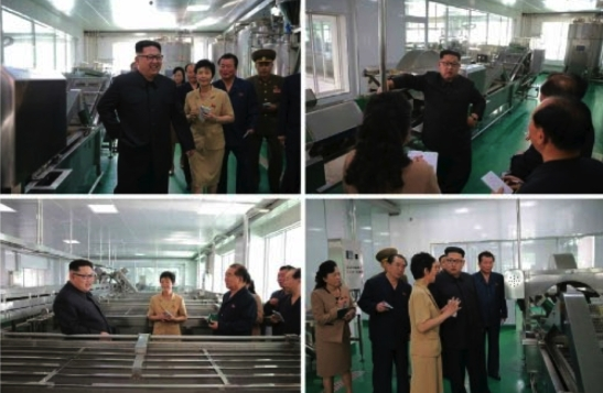 Kim Jong Un inspects the Ryugyo'ng Picklet Factory (Photos: Rodong Sinmun/KCNA).