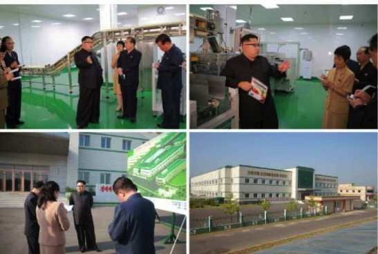 Kim Jong Un inspects the Ryugyo'ng Pickle Factory (Photos: Rodong Sinmun).