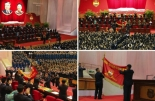 Views of the venue, participants and activities at the 9th Youth Congress (Photos: KCNA/Rodong Sinmun)