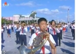Cute kid plays french horn