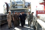 DPRK Premier Pak Pong Ju tours a port Photo: KCNA