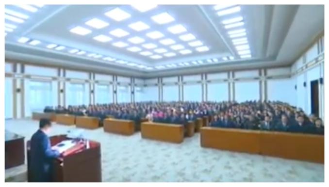 View of participants at Kulloja's 70th anniversary meeting on October 24, 2016 (Photo: Korean Central Television).