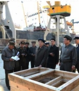 DPRK Premier Pak Pong Ju visits Ch'o'ngjin Port in the provincial capital city of North Hamgyo'ng (Photo: Rodong Sinmun).