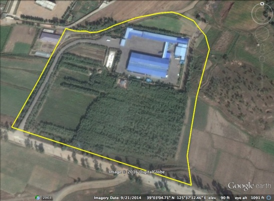 Ryongaksan Spring Water Factory in Pyongyang (Photo: Google image, NK Economy Watch).