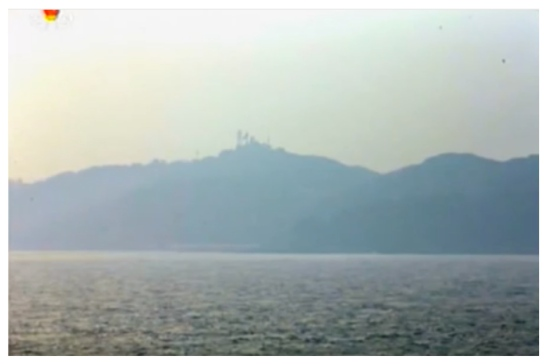 A view of Yo'np'yo'ng Island, ROK from Kali Islet, DPRK (Photo: Korean Central Television).