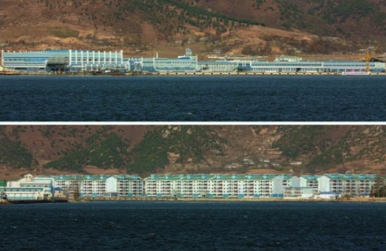 Views of apartment housing for workers of the May 27 Fishery Station which appeared on the top-right of page 3 of the November 17, 2016 edition of Rodong Sinmun (Photos: Rodong Sinmun/KCNA).