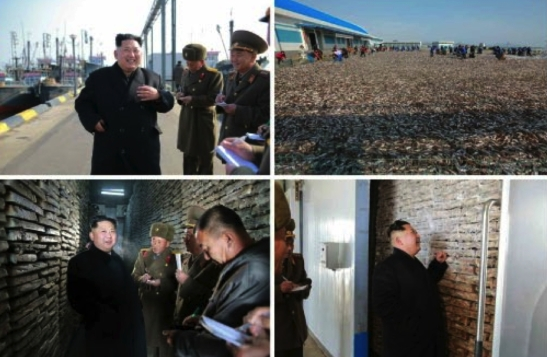 Kim Jong Un tours January 8 Fishery Station in photos which appeared on the top-right of page 4 of the November 17, 2016 edition of Rodong Sinmun (Photos: Rodong Sinmun/KCNA).