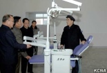DPRK Premier Pak Pong Ju visiting Myohyangsan Medical Appliances Factory. (Photo: KCNA)