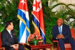 State Affairs Commission Vice Chairman and WPK Vice Chairman Choe Ryong Hae (left) meets with Cuban Vice President Salvador Valdés Mesa (right) on January 12, 2017 in Havana (Photo: Government of Cuba)