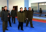 Choe Ryong Hae tours the construction of the Taekwondo Hall in Pyongyang which appeared bottom right of the second page of the January 24, 2016 edition of Rodong Sinmun