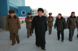 Kim Jong Un tours the Ku'msanp'o Fishery Station in South Hwanghae Province in a photo which appeared top-center on the front page of the January 15, 2016 edition of the WPK daily newspaper Rodong Sinmun (Photo: Rodong Sinmun/KCNA).