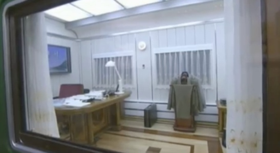 View of the office in Kim Jong Il's personal railway coach at the Ku'msusan Palace of the Sun (Photo: Korean Central Television).