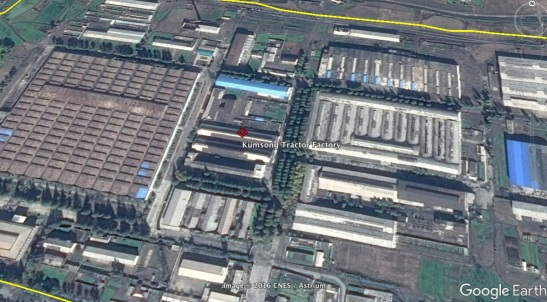 View of the Kumsong Tractor Factory (Photo: Google image).