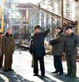 Pak Pong Ju and Ri Jong Guk at the February 8 Vinalon Factory. Photo: Rodong Sinmun