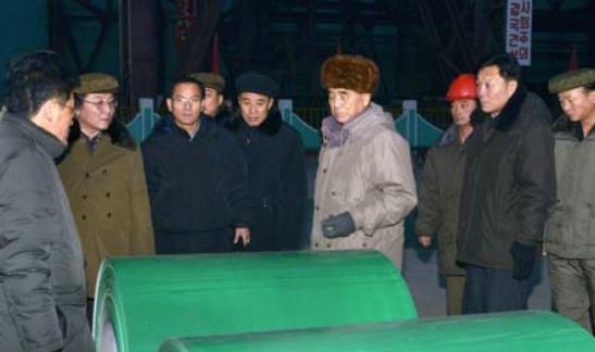 DPRK Premier Pak Pong Ju tours the Kim Cha'ek Iron and Steel Complex (Photo: KCNA).